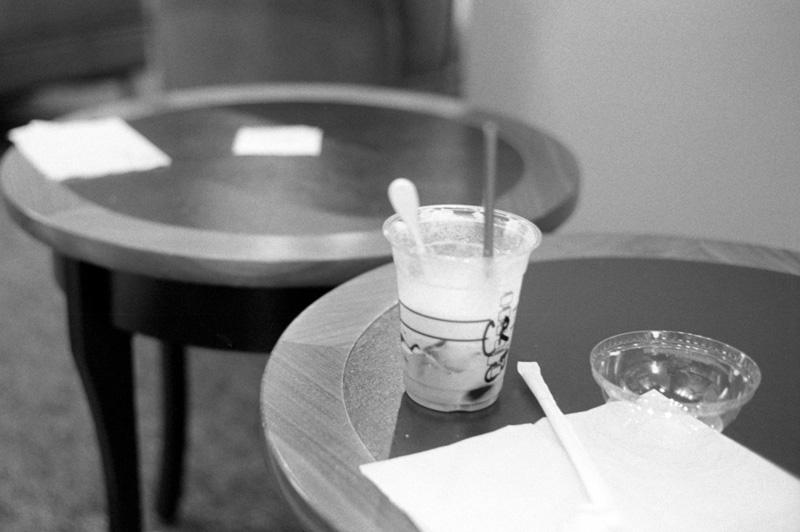 アイスコーヒーは甘甘で