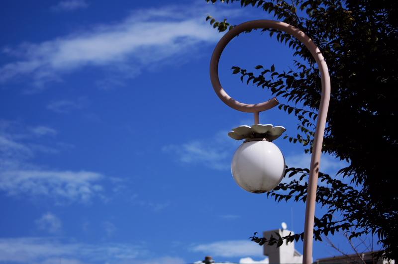 街灯と青空