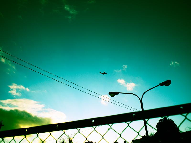 夕暮れAirplane